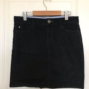Tommy Hilfiger Black Corduroy Skirt